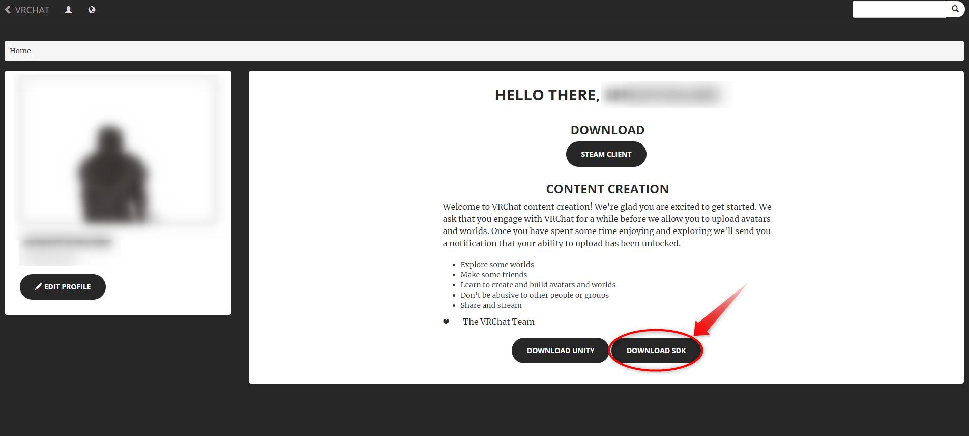 VRChatのログイン画面