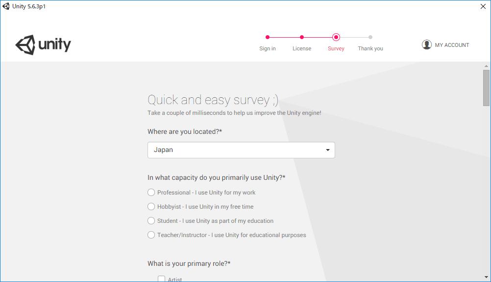 Unityセットアップ4