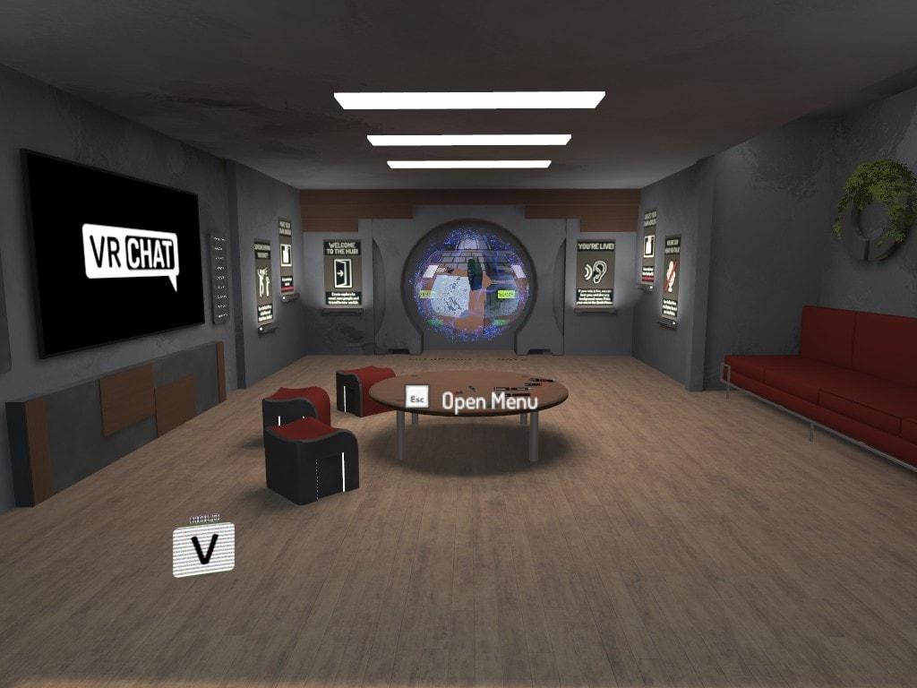 VRChat内のホーム