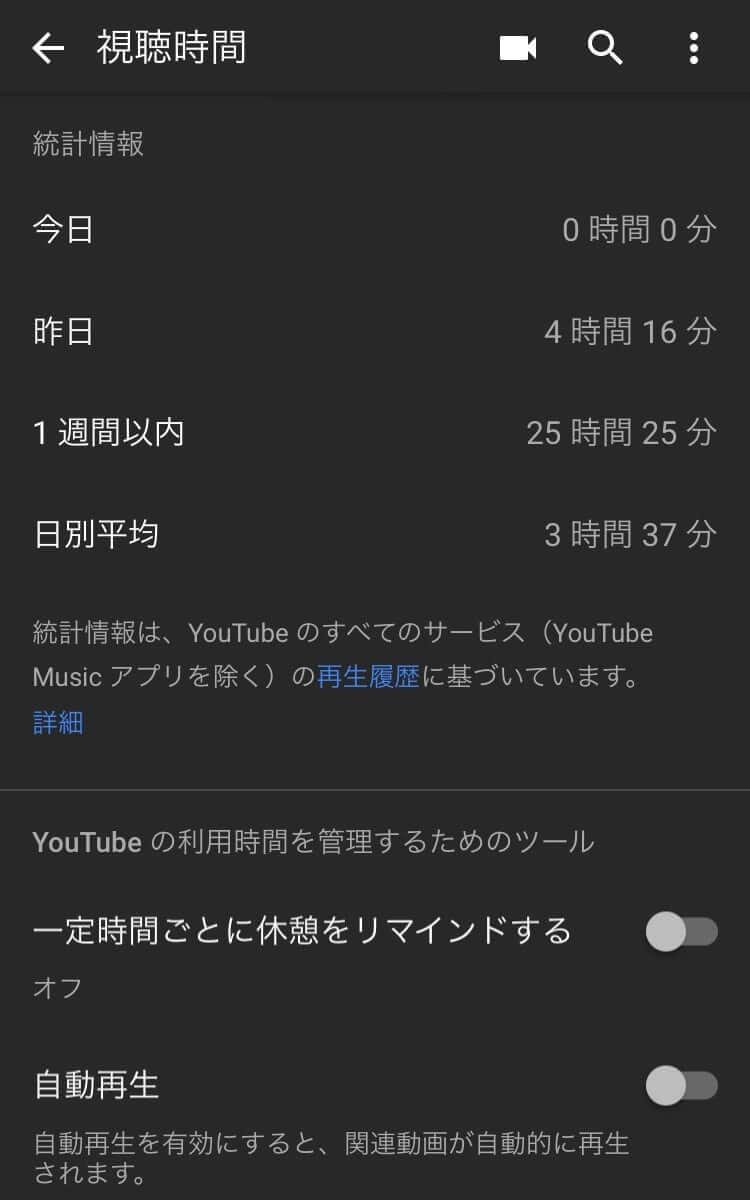 YouTube視聴時間3